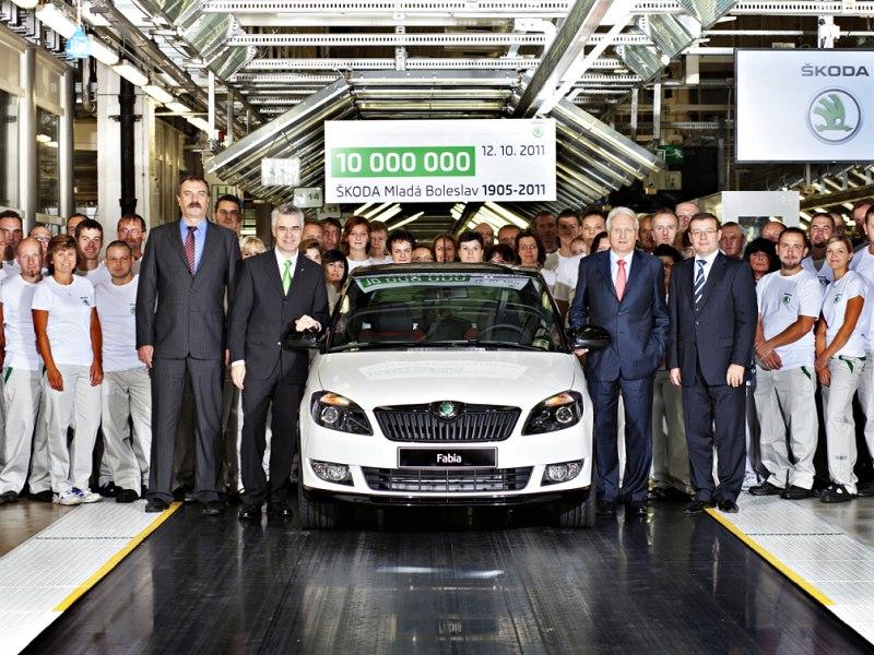 Škoda vyrobila desetimiliontý vůz v Mladé  Boleslavi