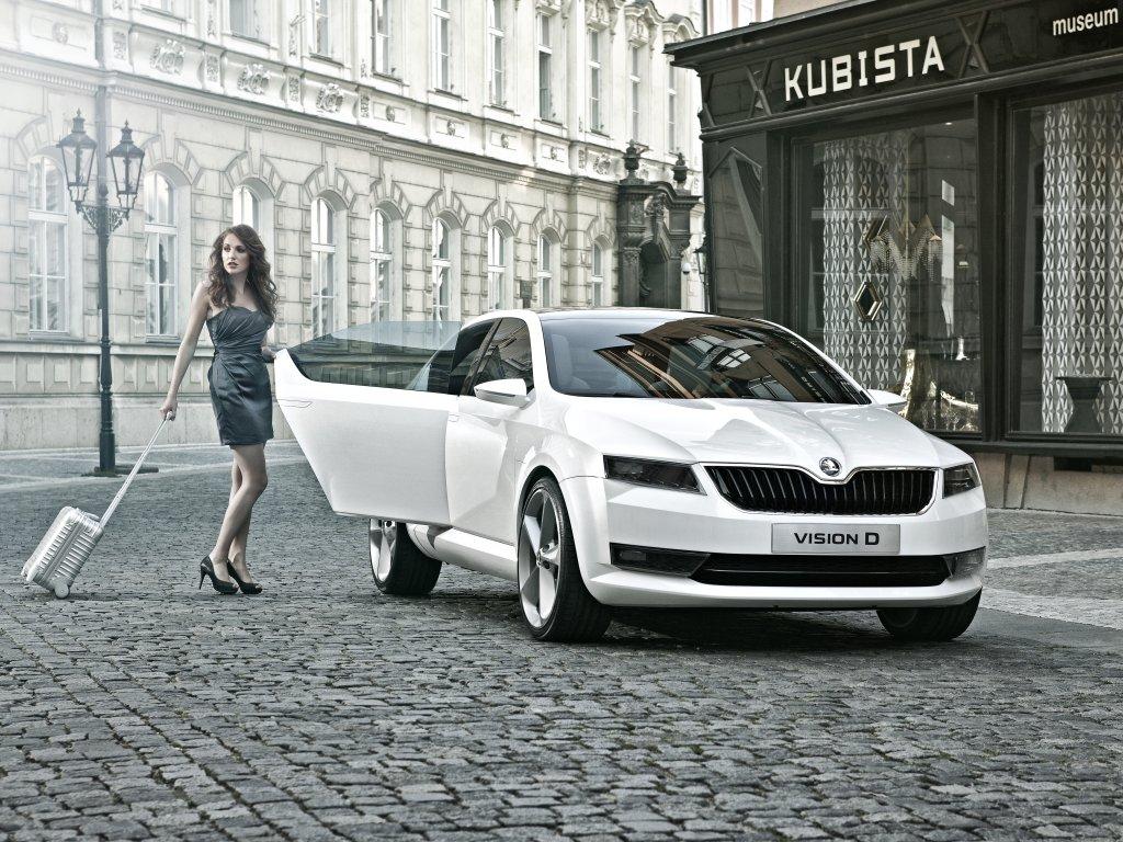 Koncept Škoda VisionD na nových fotografiích