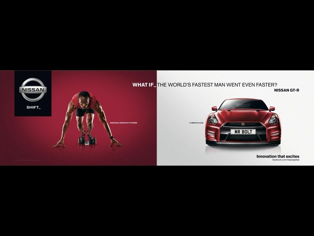 Usain Bolt tváří Nissanu GT-R