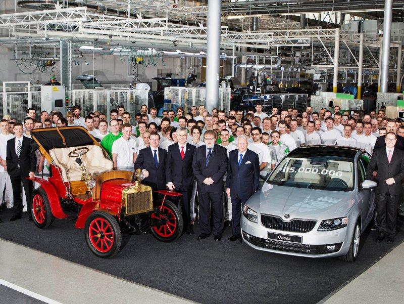 Škoda již vyrobila 15 milionů automobilů