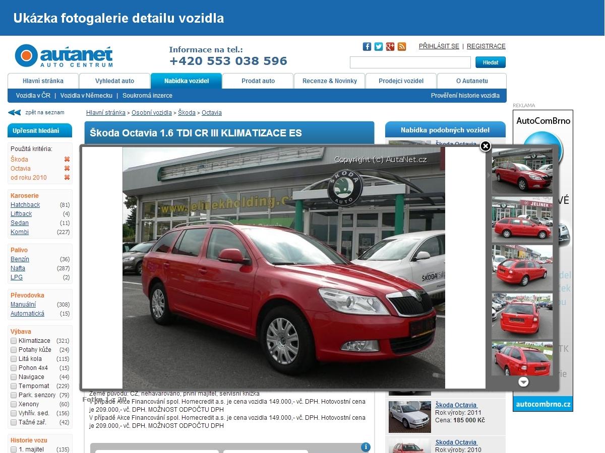 Informačně inzertní motoristický portál AutaNet.cz