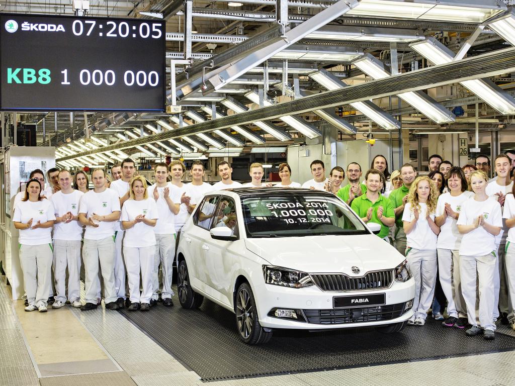 Škoda letos překročila jeden milion vyrobených aut