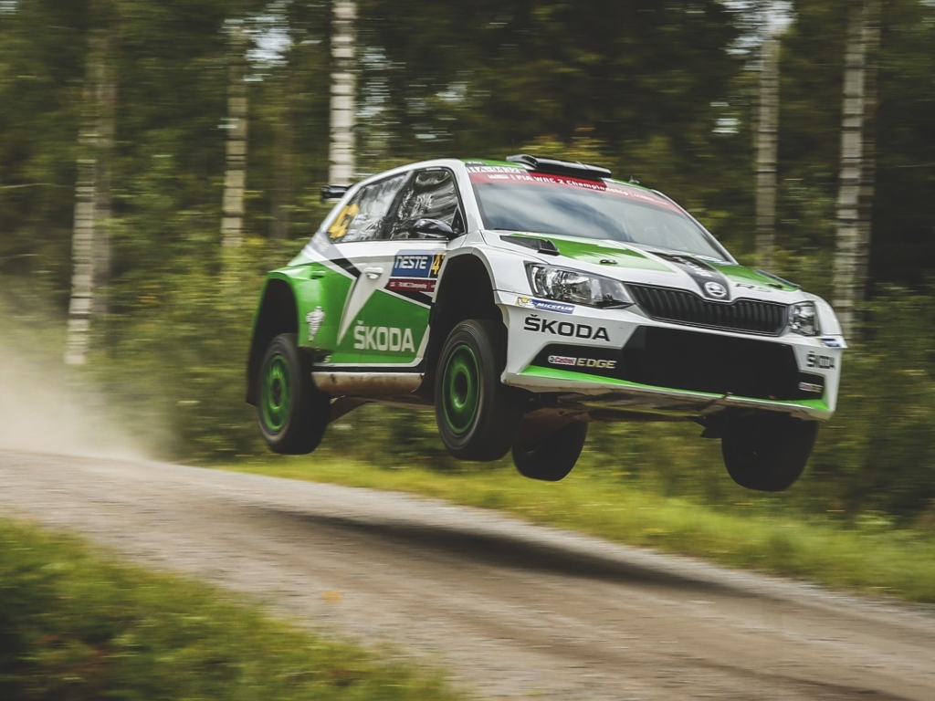 Škoda Fabia R5 si z Finské rallye odvezla double
