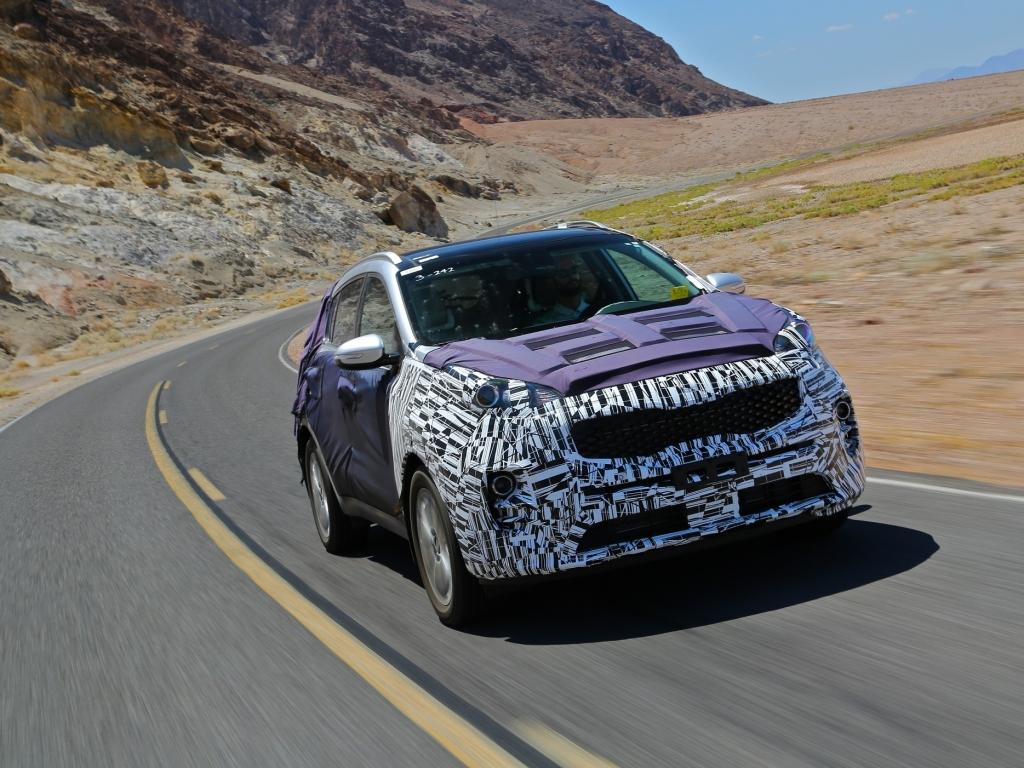 Kia testuje novou Sportage v údolí smrti