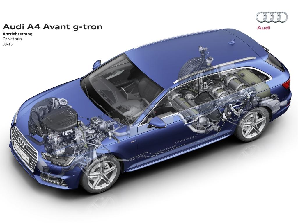 Nové Audi A4 Avant g-tron - kilometr za korunu