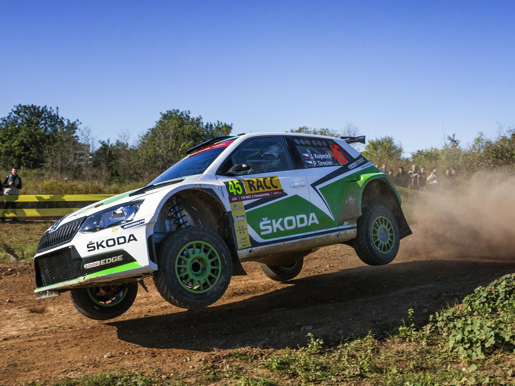 WRC2: Škoda vybojovala double na Španělské rally