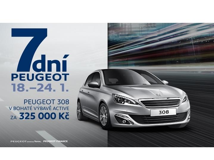Za týden opět startuje akce 7 dní Peugeot
