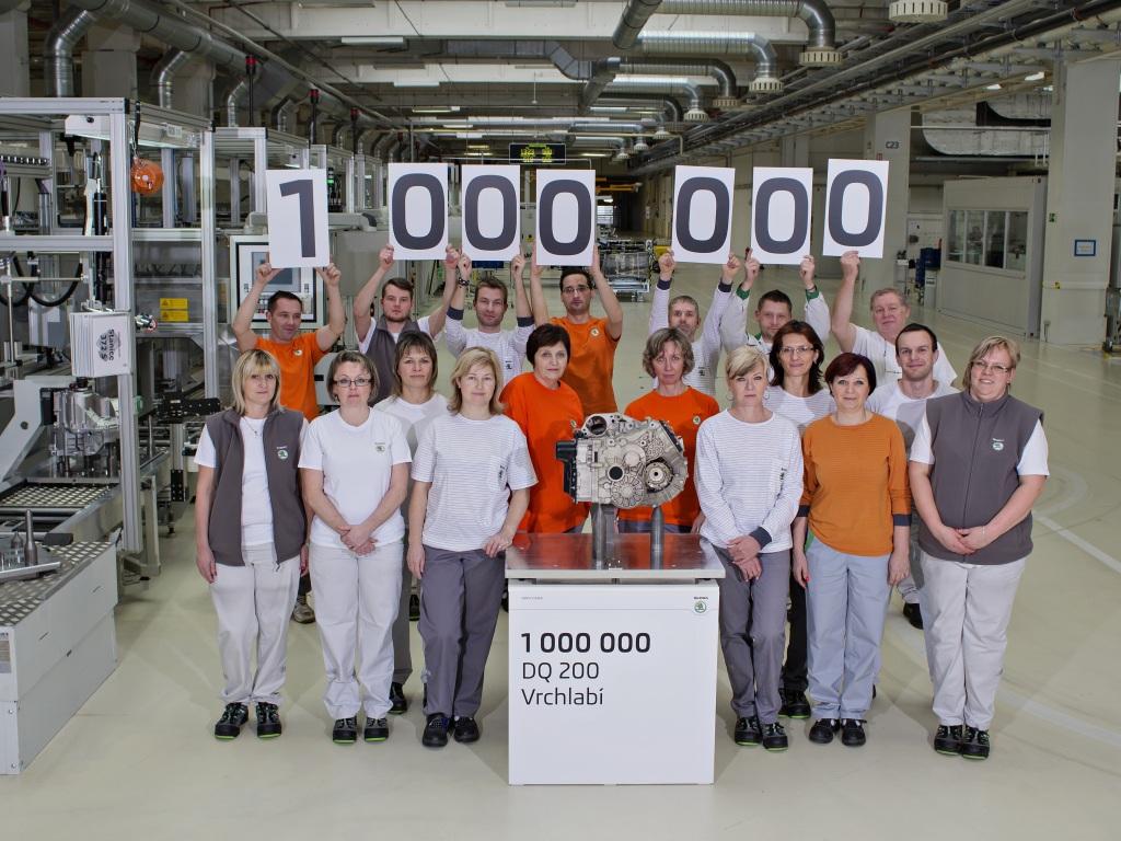 ŠKODA AUTO ve Vrchlabí vyrobila miliontou převodovku DQ 200