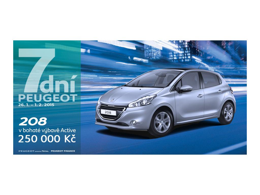 """Akce """"7 dní Peugeot"""" je tady"""