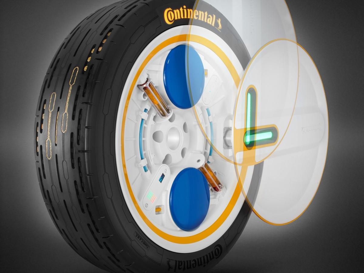 Continental navrhl pneumatiku budoucnosti, umí se sama dohustit