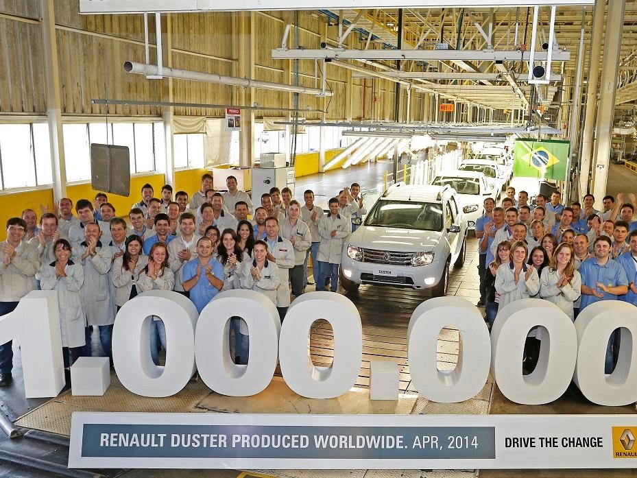 Dacia Duster slaví jeden milion prodaných exemplářů