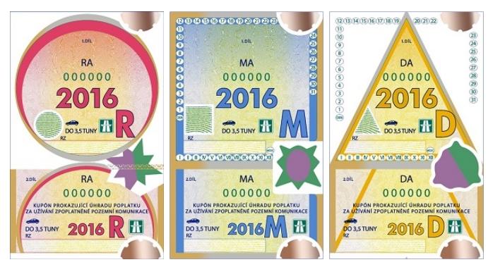 Dálniční známky 2016