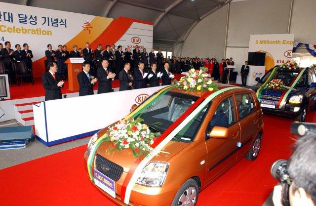 Kia vyvezla 5 milionů vozů