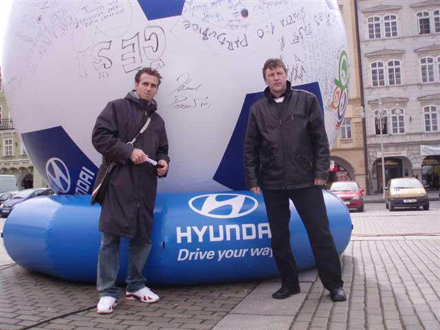Hyundai fotbalová mise na cestách