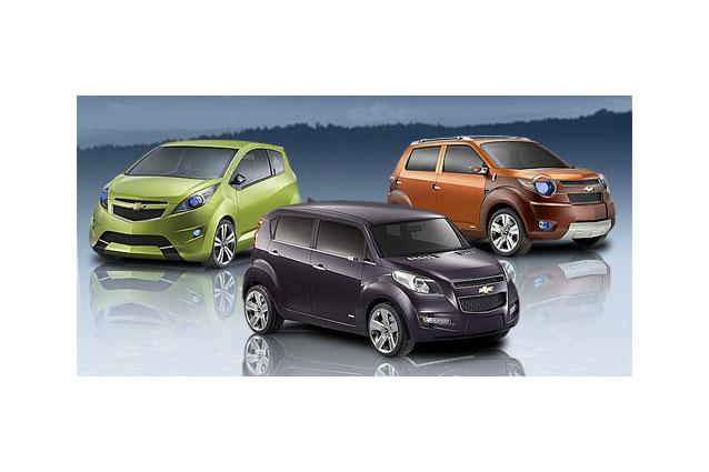 Tři koncepty minivozů Chevrolet