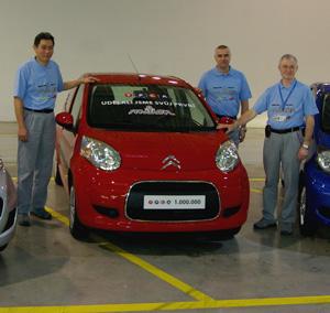 TPCA vyrobila miliontý vůz