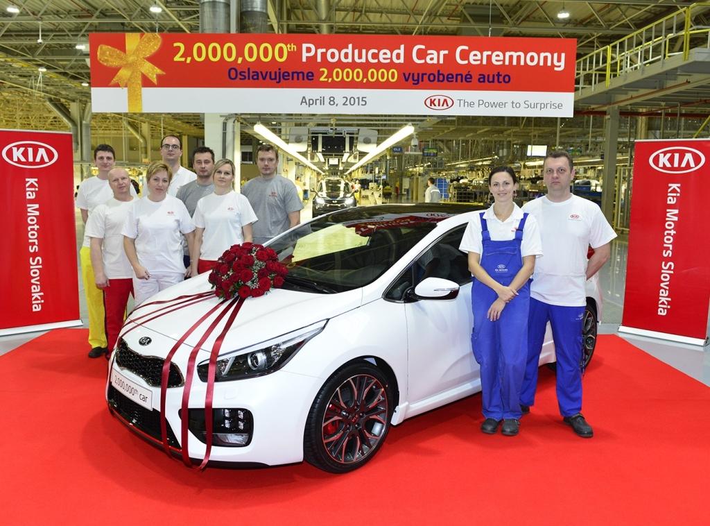 Kia hlásí dva miliony vyrobených vozů na Slovensku