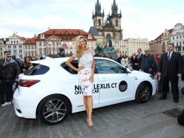 Petra Němcová s novým Lexusem CT 200h na Prague Fashion Night