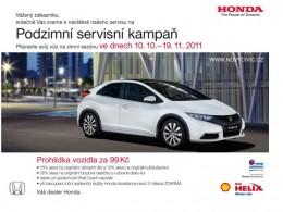 Honda připravila pro své zákazníky podzimní servisní kampaň