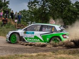 Jan Kopeck� triumfoval po st�hac� j�zd� s Fabi� R5 na Rallye Hustope�e