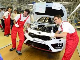Kia oslavuje milion vyrobených modelů ceed