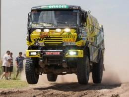 Martin Macík za volantem Liazu si vede na Dakaru dobře