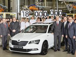 Škoda Auto vyrobila osmnáctimiliontý vůz