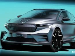 První elektromobil Škoda Enyaq poprvé v celé parádě na skicách