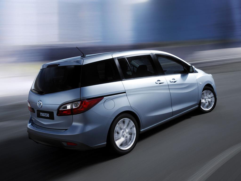 2011 Mazda5 Rear Three Quarters.