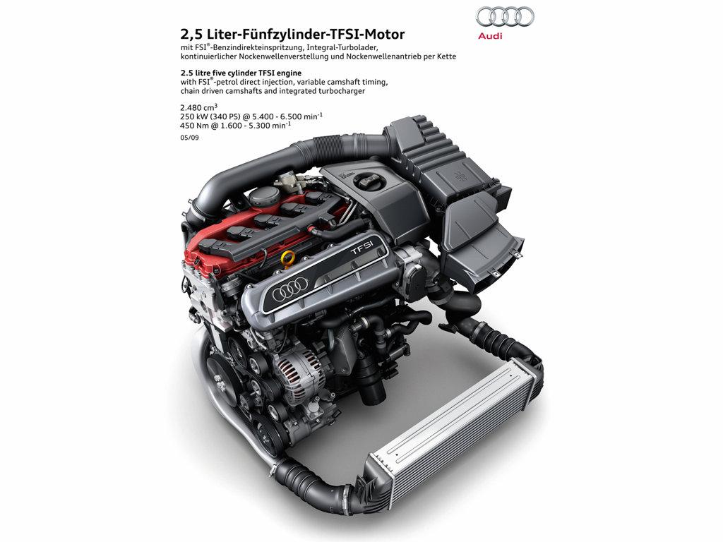 """Pětiválec Audi 2,5 TFSI oceněn v anketě """"International Engine of the Year"""""""