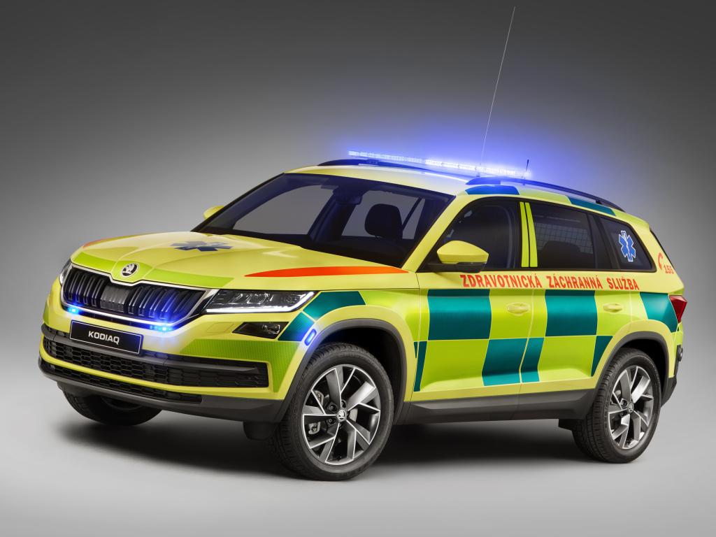 Škoda Kodiaq v úpravě pro potřeby Zdravotnické záchranné služby