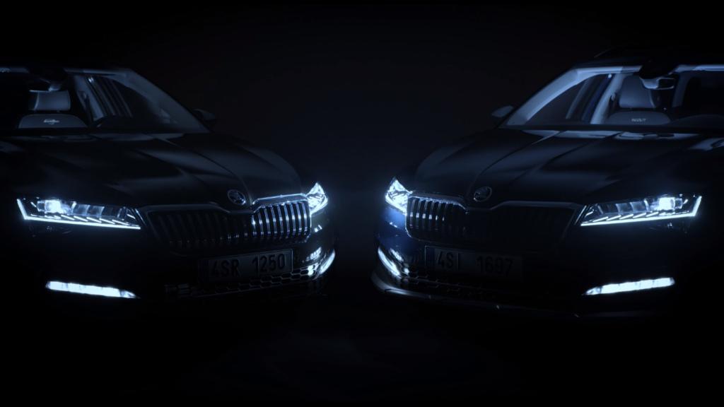 Škoda nabízí první ochutnávku modernizované modelové řady Superb v podobě video-teaseru