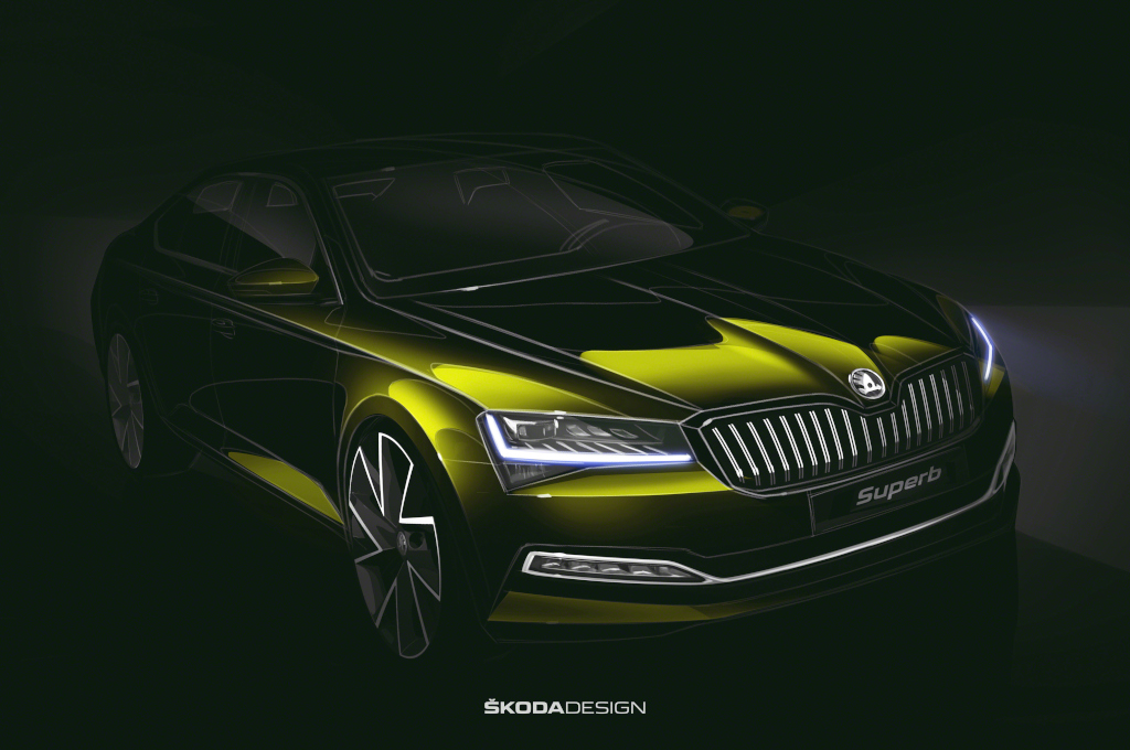 Škoda ukázala skicu modernizovaného Superbu