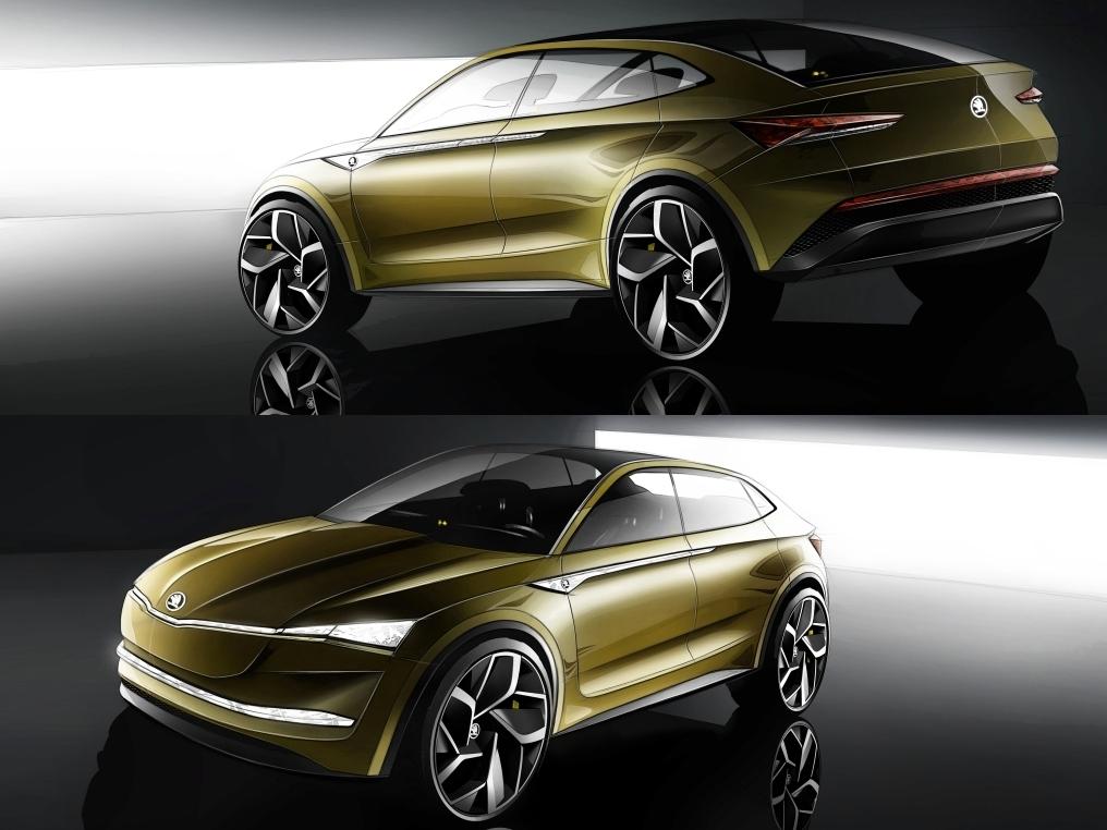 Škoda Vision E - předobraz elektrického a autonomního Kodiaqu Coupé?