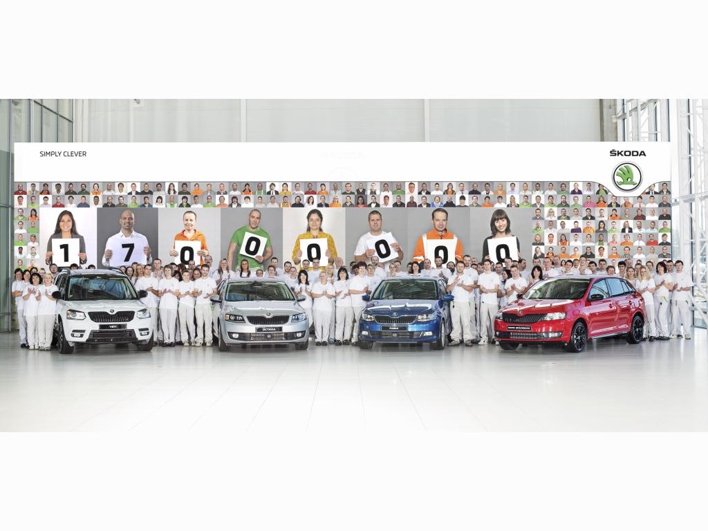Škoda vyrobila 17miliontý automobil