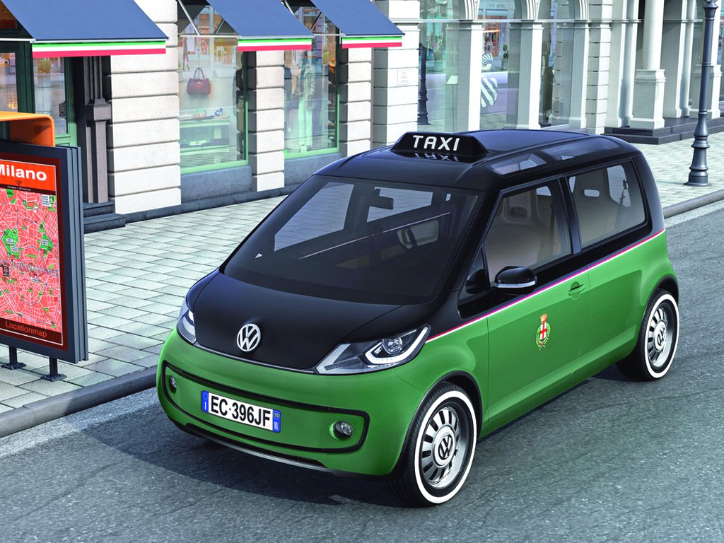 Studie Volkswagen Milano Taxi: S obrazovkami a bez emisí