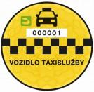 taxi nalepka