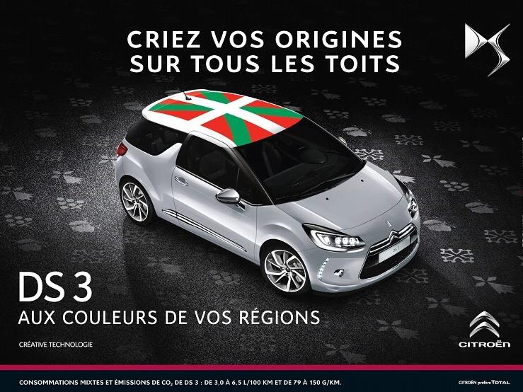 Ukažte na střeše Citroënu DS3, odkud jste