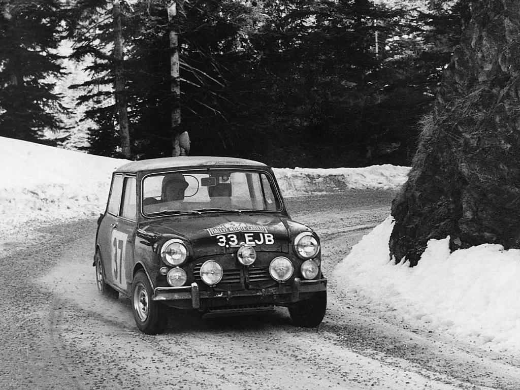 Velké vítězství pro malé auto: před 50 lety Mini vyhrálo Rally Monte Carlo